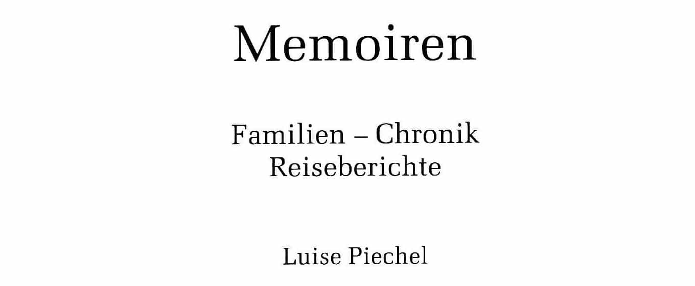 Memoiren-Luise-Piechel