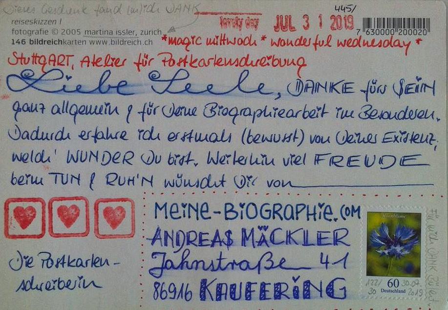 Mäckler-Die-Postkartenschreiberin